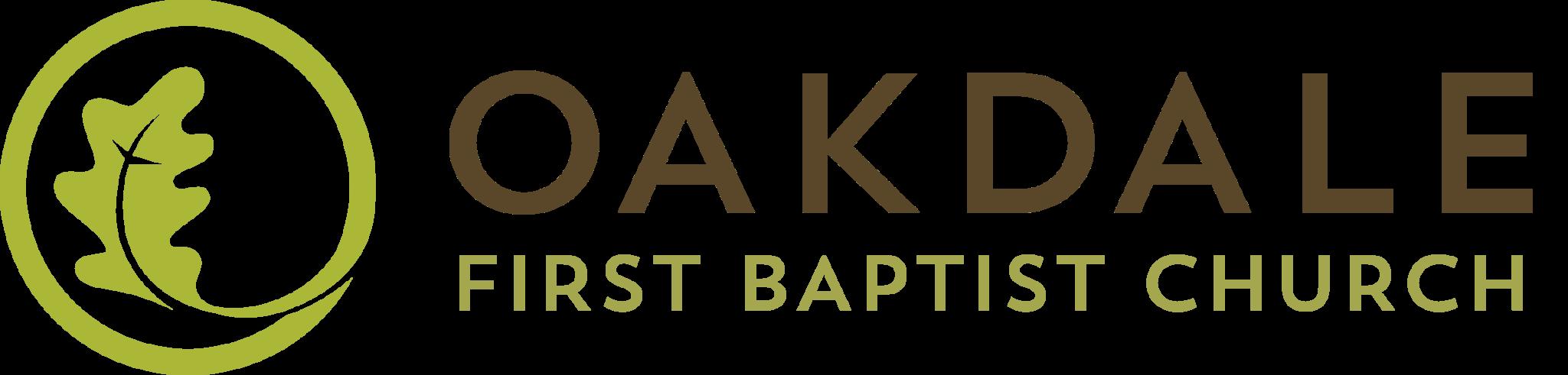 Oakdale First Baptist Church's Horizontal Logo