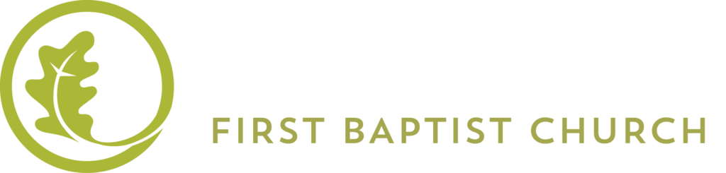 Oakdale First Baptist Church's Horizontal Reversed Logo